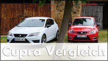 Seat Leon Cupra vs. Seat Ibiza Cupra Vergleich der Seat Top-Modelle