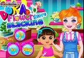 Dora and flowers! The game for girls! Games for children! Childrens games and cartoons! Games fo