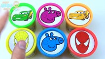 Cups Play Doh Clay Spiderman McQueen Peppa Pig Cars 2 Pixar Disney Toys Learn Co