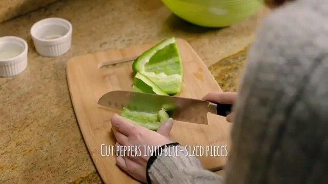 Recette - Bouchée de poivrons à la crème