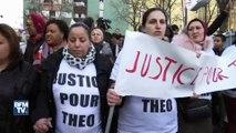 """Aulnay-sous-Bois: au moins 500 personnes marchent en scandant """"justice pour Théo"""""""