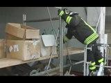 Norcia (PG) - Terremoto, recupero beni in zona industriale (24.01.17)