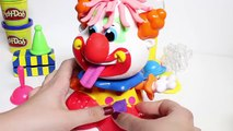 Play-Doh Party Clown Play Dough Funny Clown Plastilina Toy Videos Juguetes Play Doh