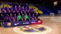 FCB Handbol: El Barça Lassa es fa la foto oficial amb el president