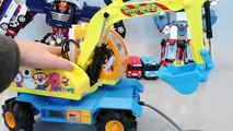 Pororo Excavators Tayo The Little Bus English Learn Numbers Colors Toy Surprise Eggs Toys YouTube
