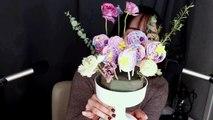 [Eating ASMR] Let's eat Meringue cookies flower pot│meringue cookies eating Sounds│아삭아삭 머랭쿠키화분 먹을게요