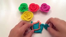 Learn Colours with Play Doh Roses with Bear Fish Molds Fun and Creative for Children