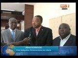 Sécurité:le ministre Paul Koffi Koffi a reçu une délégation de parlementaires venus du Liberia
