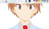 How I Draw using Mouse on Paint  - Sorata Kanda - Sakurasou no Pet na Kanojo