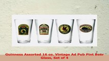 Guinness Assorted 16 oz Vintage Ad Pub Pint Beer Glass Set of 4 6a623d2c
