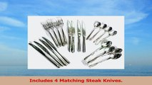 20 Piece Flatware Set Includes 4 Steak Knives  1810 Stainless Steel  10 Year 123c667a