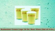 Budweiser Crown Logo 16 Oz Beer Glass Set of 4 Ea 176333f1