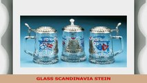 Scandinavia Finland Denmark Sweden Norway Glass Beer Stein w Pewter Viking Ship Viking fa683de1