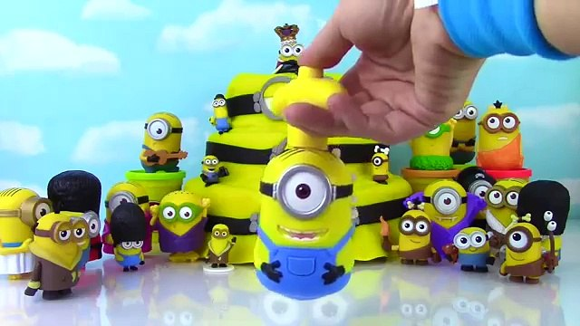 MINIONS Movie Surprise Play Doh Cake!! Funko Mystery Mini Blind Boxes! Blind Bags!