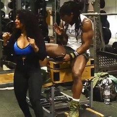 Moment fun entre Monsieur et Madame Ulisses, célèbre couple de fitness américain
