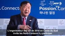 JO 2018 en Corée du Sud: appel aux Nord-Coréens à participer