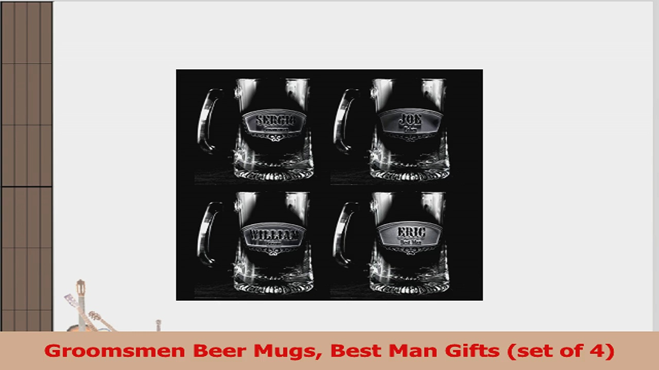 Groomsmen Beer Mugs Best Man Gifts set of 4 0cf9b4f4