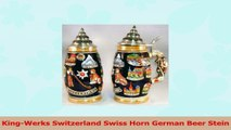 KingWerks Switzerland Swiss Horn German Beer Stein e7550250