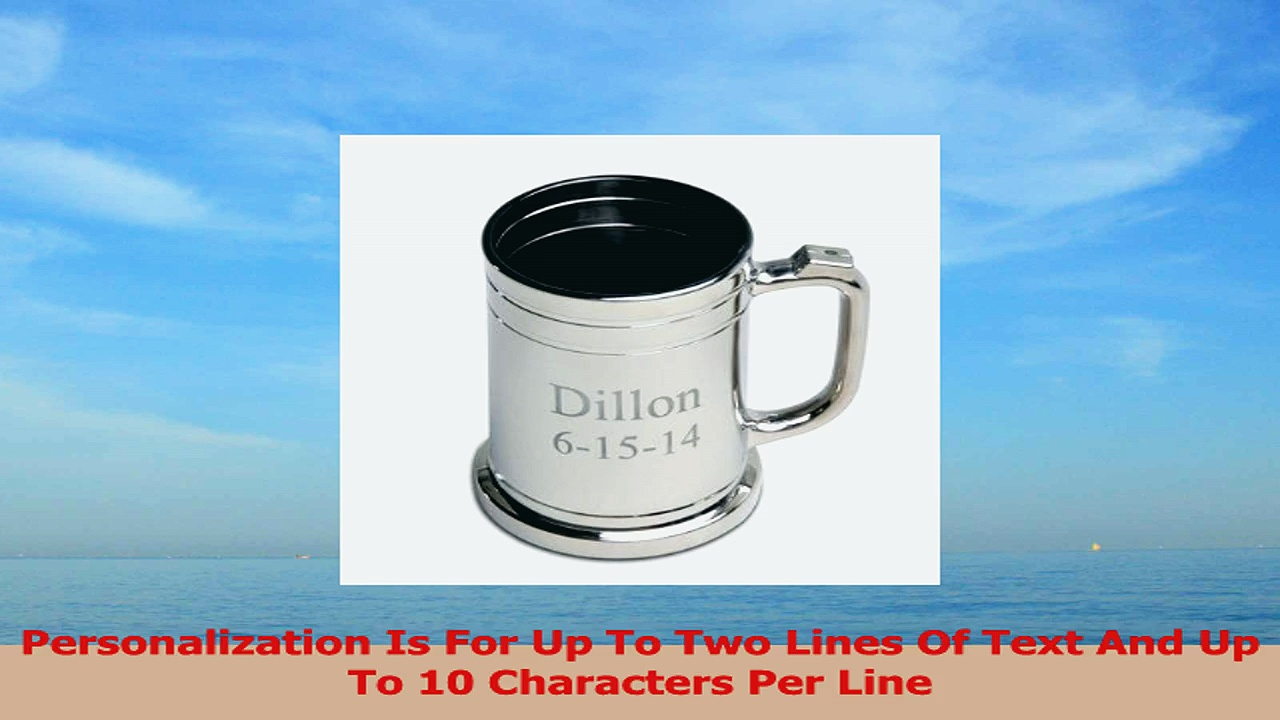 Personalized Barware  Collectible Contemporary  Classic Gunmetal Finish Mug Beer Glass 6bf293f0