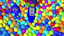 Gumball Machine 3D Color Balls Basketball Ball Pit Show for Kids to Learn Colours with Egg Surprise