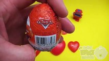 Disney Cars Surprise Egg Learn-A-Word! Spelling Valentines Day Words! Lesson 10