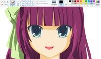 How I Draw using Mouse on Paint - Yuri Nakamura - Angel Beats