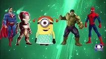 Superheros Finger FAmily Song   Daddy Finger Ironman Hulk Minions   Finger Family Nursery Rhymes