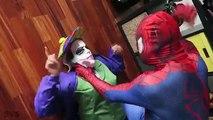 UGLY FROZEN ELSA vs JOKER! Elsa Gets Giant Ears! w/ Spiderman vs Maleficent - Superhero Real Life