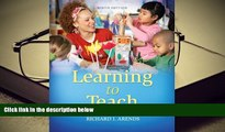 PDF [Free] Download  Learning to Teach, 9th Edition [Download] Online
