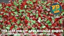 İzlemesi Anlamsızca Zevkli Elma Desenli Şeker Yapımı