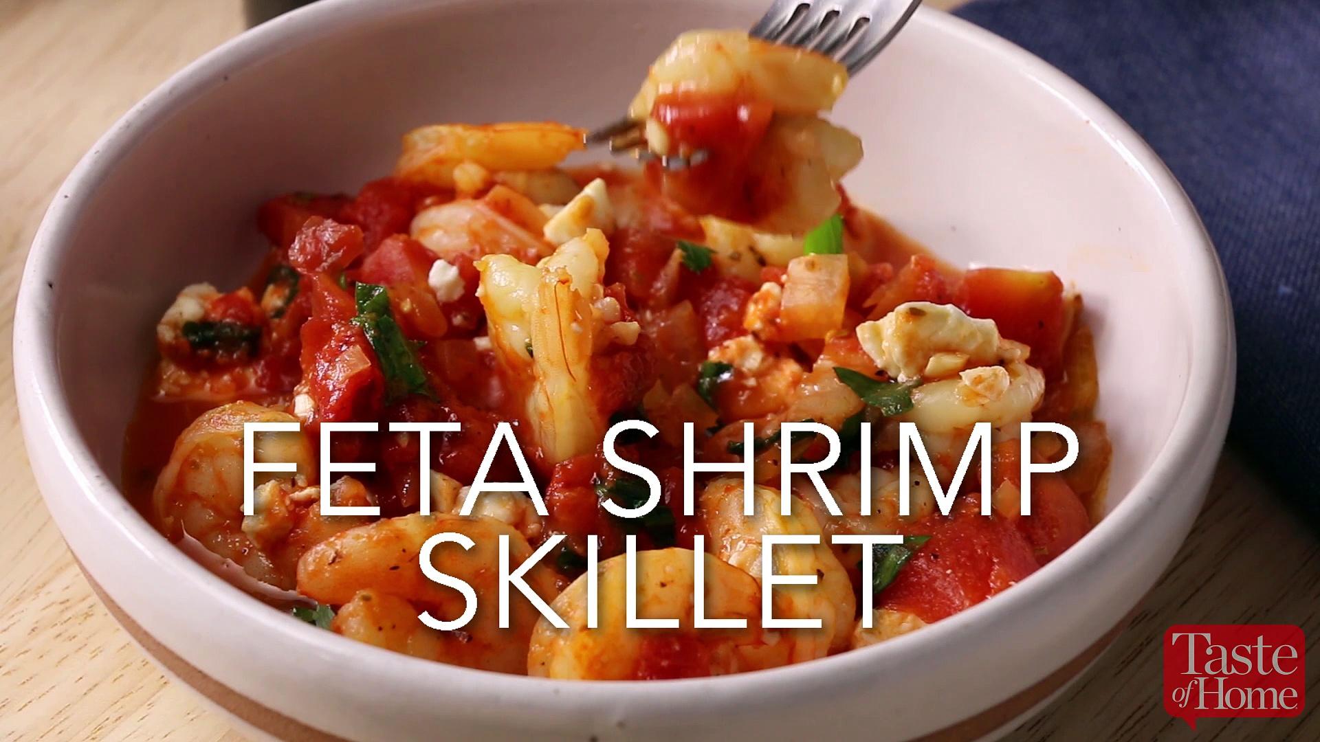 Feta Shrimp Skillet