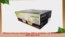Mikasa Encore Stemless Wine Goblets 165Ounce  Gift Set of 6 52430434
