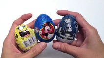 SpongeBob, Star Wars and Mickey Mouse Kinder Surprise Chocolate Eggs Unwrapping - kidstvsongs