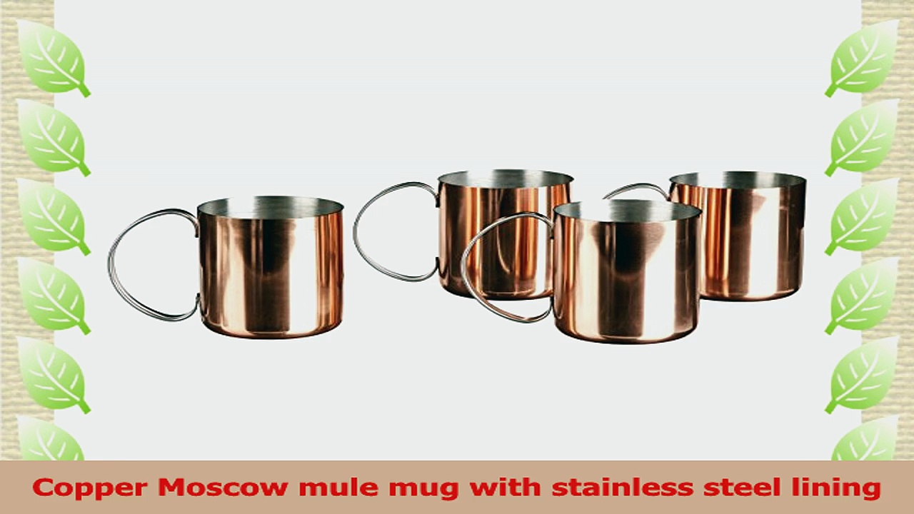 Southern Homewares Copper Mug for Moscow Mules CopperClad Stainless Novelty Cup 12Ounce 9ee797b3
