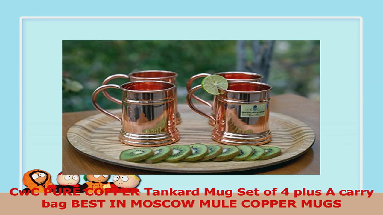 CwC PURE COPPER Tankard Mug Set of 4 plus A carry bag BEST IN MOSCOW MULE COPPER MUGS 71a24ec2