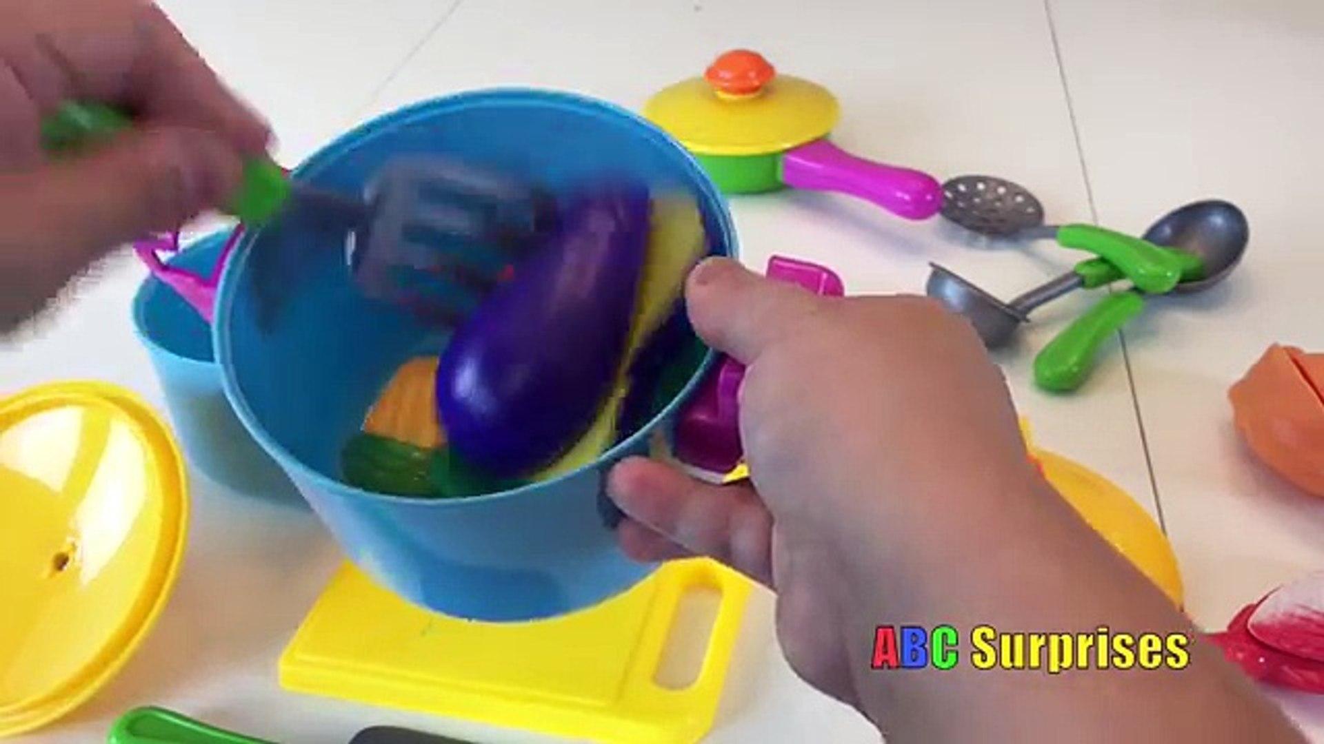 ВЕЛКРО игрушек Foods резки и обучение Имена Фрукты и Овощи Развлечения для детей всех возрастов ABC