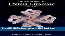 Get the Book Introduction to Protein Structure Free Online