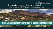 [Read Book] Business Law and the Legal Environment, Standard Edition (Business Law and the Legal