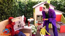 BAD Baby JOKER and Joker DAD pranks Spiderman | Joker Dad turns into Bad Joker Boy Superhero movies