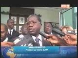 Le 1er Ministre Ahoussou a reçu une délégation du FPI et la chambre de commerce française