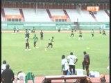 Dernière séance d'entrainement des Éléphants de Côte d'Ivoire au Stade FHB