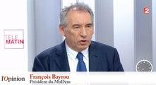 François Bayrou sur François Fillon : «Jamais un candidat n'a autant été sous l'influence des puissances d'argent»
