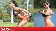 Michelle Lewin s'entraîne dans un parc à Miami