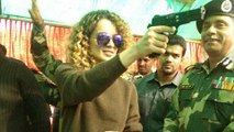 Kangana Ranaut DANCES With Army Soldiers In Jammu and Kashmir  Rangoon Promotions