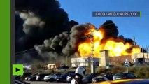 Espagne : explosion et incendie dans une zone industrielle près de Valence