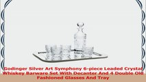 Godinger Silver Art Symphony 6piece Leaded Crystal Whiskey Barware Set With Decanter And d83af2fa