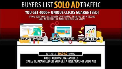 BUYERS LIST SOLO TRAFFIC - 4000+ CLICKS GUARANTEED