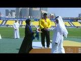 Men's shot put F42   Victory Ceremony    2015 IPC Athletics World Championships Doha
