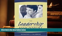 Best PDF  The Leadership Assignment: Creating Change Trial Ebook