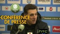 Conférence de presse Tours FC - Amiens SC (0-3) : Fabien MERCADAL (TOURS) - Christophe PELISSIER (ASC) - 2016/2017